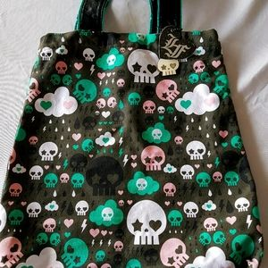 Loungefly Punisher Skull Tote Bag with Pin